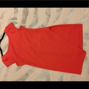 Coral Red Cap Sleeve Zara Dress - Size Small